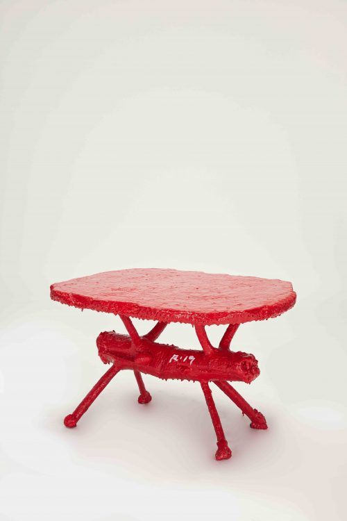 Animal Head Table (Red)